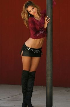 Mini Skirt and Boots